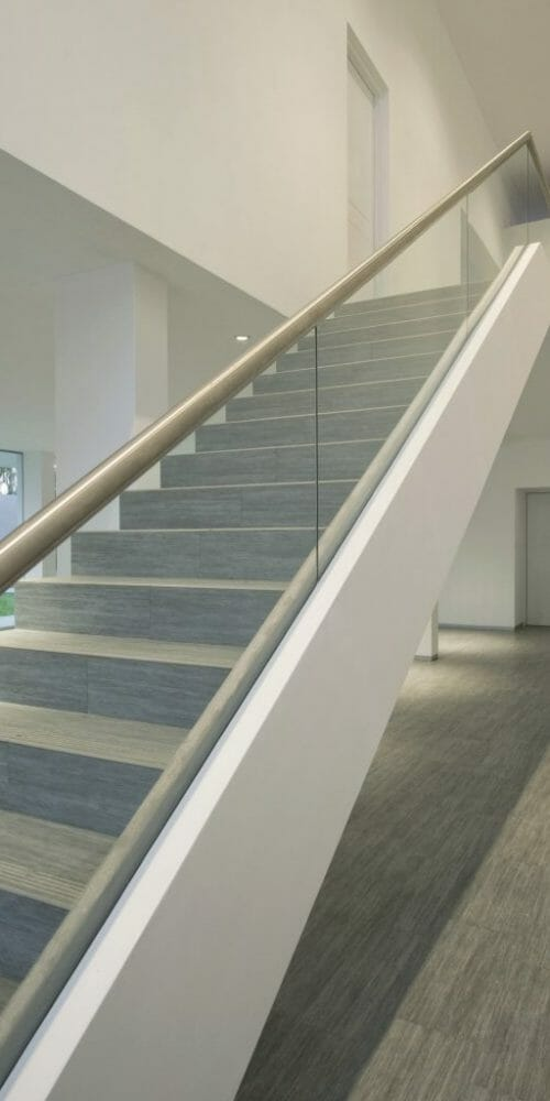 metalwood wood effect stairs tile
