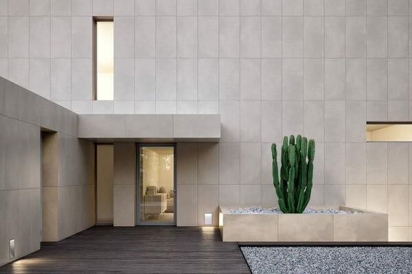Evolution cement effect tile showroom