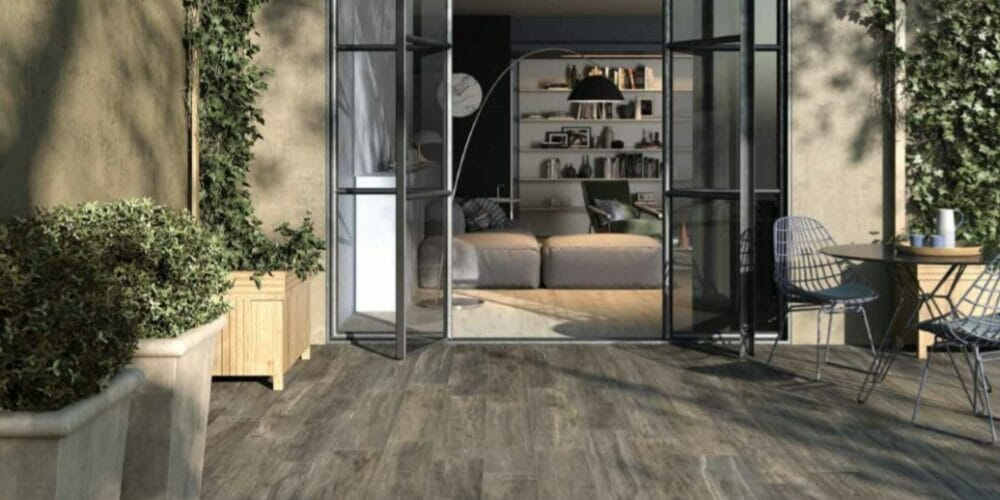 Westwood wood-effect outdoor tiles