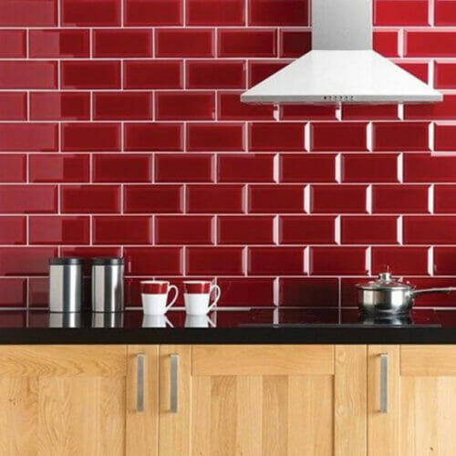 Bevel kitchen wall tiles